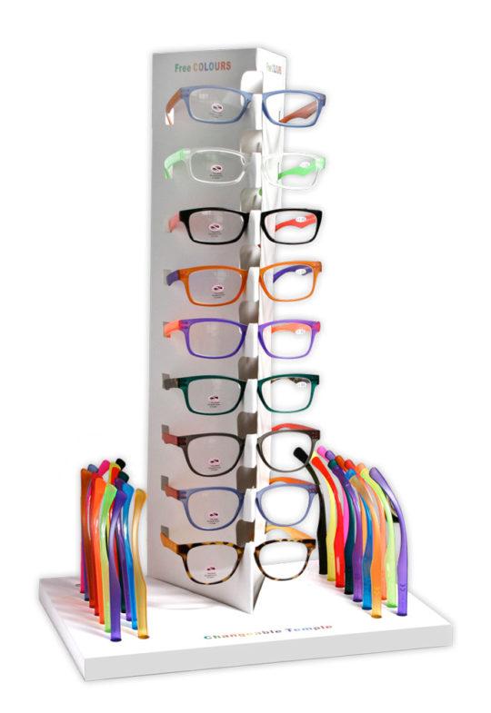 Espositore occhiali da lettura Free Colors
